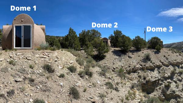 Domes Along the Canyon